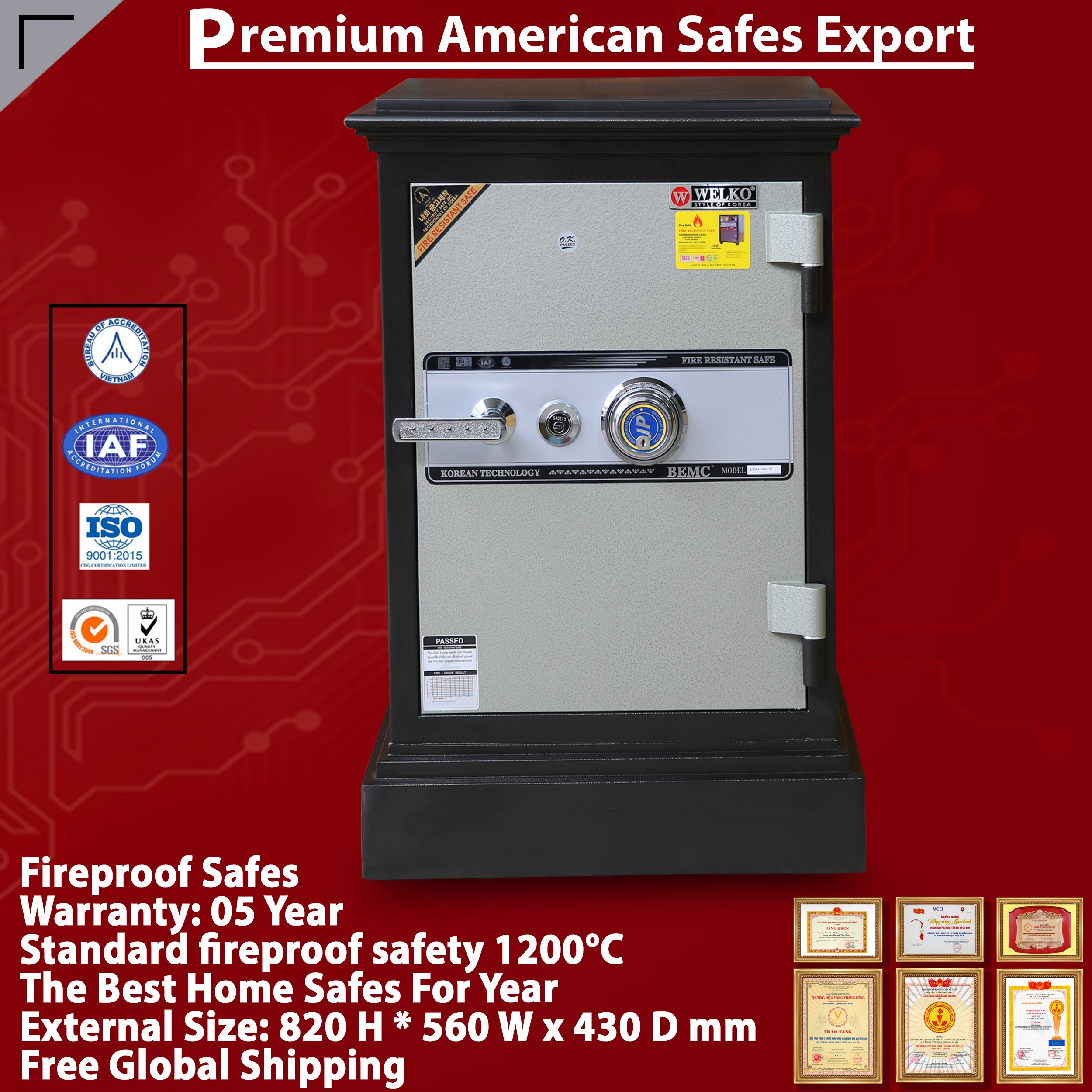 DC54 DK Fireproof Home Safes Hiquality Safe Box Model