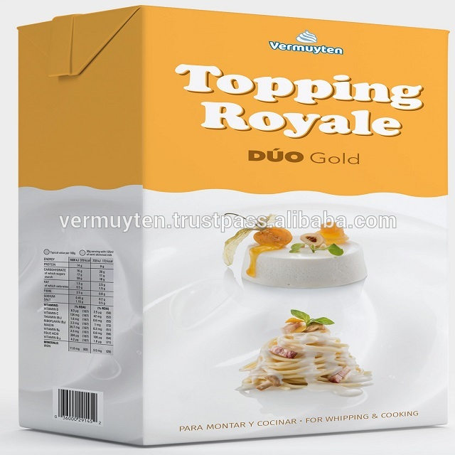 Topping Royale Duo Gold Blended Whipping and Cooking Cream Alternative 1L & 10L