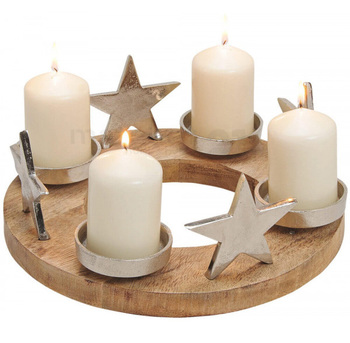 Star Advent wreath Candle Holder for Winter Christmas Decoration
