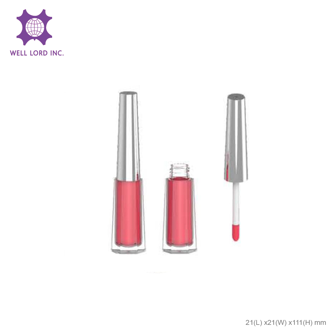 Crush high pigment butter lip lacquer moisture customize private label liquid lipstick container