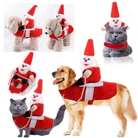 pet products big dogs breed garments decoration riding santa claus doll autumn winter funny costume