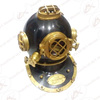 Marine Scuba Diving Helmet Antique Style - Vintage Look Collectible Nautical Diver's Helmet Mark V - Black & Brass Antique