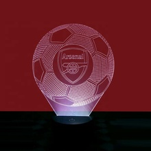Customized Football fans Gift 3D LED Arsenal night light for decoration