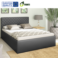 Cheap modern upholstered bed MORISON 140X200 with sleep function EU quality eco leather color optional