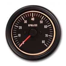 85mm high quality Universal Black face 12v 8000 rpm tachometer for AUTOMOBILE