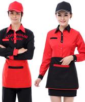 OEM ODM Custom Screen Print Embroidery Bar waiter Hotel Restaurant shirt /housekeeping uniform
