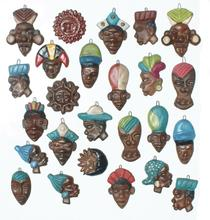 African Clay Crafts Masks Handmade in Ecuador  Afro American Culture Art Gifts Home Decor from Chota Valley Ecuador