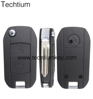 Factory direct 2 buttons auto car replace key housing cover blank case FOB left blade for Opel