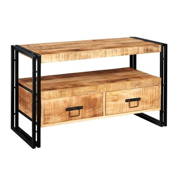 Industrial  TV stand  With Two Drawer