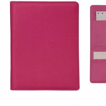 A4 size leather document file folders