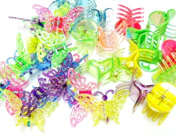100 Piece Mini Hair Clip Carnival Girls Birthday Party Favor Toys Novelty Prize Gift Pinata Bag Filler Favour Vending
