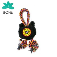 LUVP+K-KUMAMON Hot Sale & High Quality Cotton Rope Series Bear Head Dog Chew Toys Dog Interactive Toys Factory Supplies