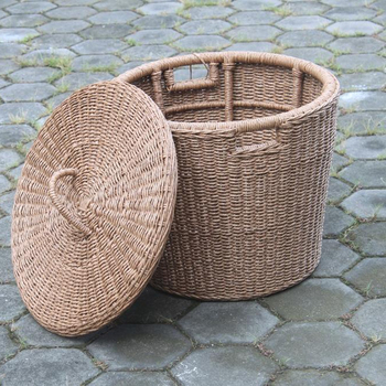 RATTAN OUTDOOR LOUNDRY BASKET -KHARKIEV