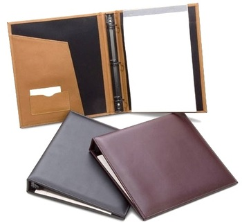 Best selling handmade office 3 ring binder file in pu leather