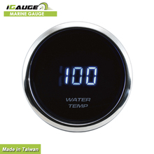 High quality Blue Led digital 24v 52mm Water Temp Temperature Gauge