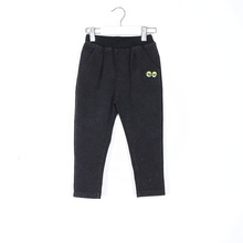Full Length Baby <strong>Boy's</strong> Black Sporty Trousers <strong>Pants</strong> with a Patch for Autumn Winter