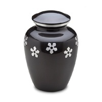 Black finished paw printed urns
