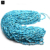 "Nugget freeform 4-6mm size natural uncut tumbled stones 34"" length strand blue turquoise chips beads"