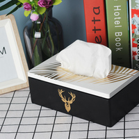Fancy Decorative Refillable Wooden Tissue Box Holder