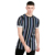 2017 Summer Fashion Men's Vertical Striped t shirts Wholesale Short Sleeve Slim Fit Casual 100% Cotton