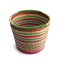wholesale cheap product laundry basket with handles , woven small basket seagrass