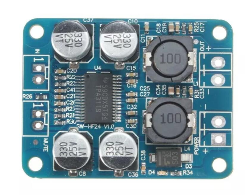 Taidacent Stereo Class <strong>D</strong> Digital Amplifier Board PBTL Single Channel Module 60W 24V DC Audio Amplifier TPA3118