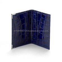 Hot selling blue crocodile printing business/credit card case/Card holder