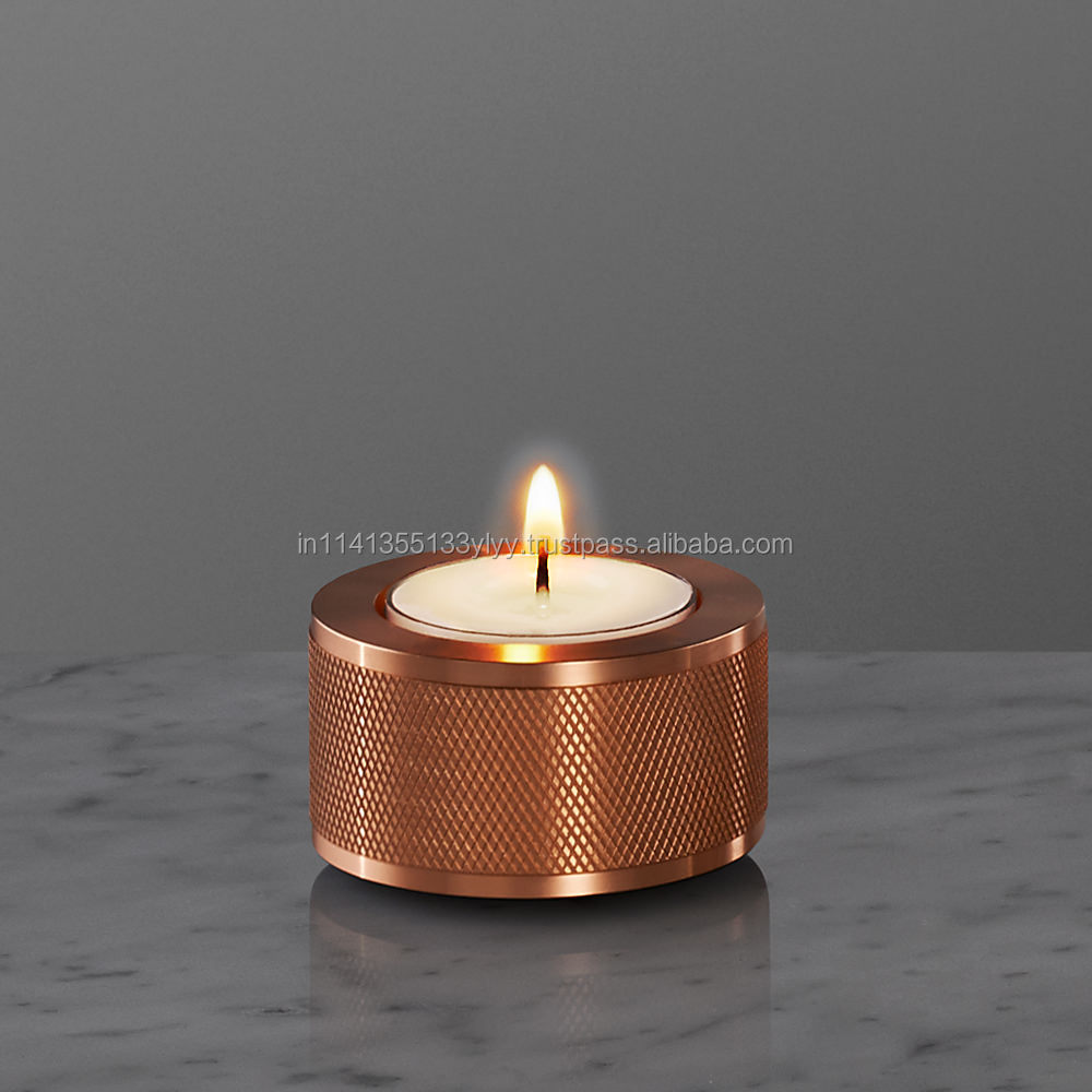 copper fancy buster candle holder