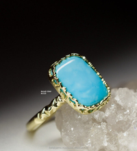 Sterling Silver Gold Plated Turquoise Ring Image Band Jewelry