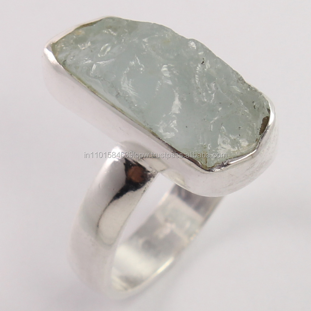 Stunning Stone Designs Indian Factory Handmade Rough Brass Ring