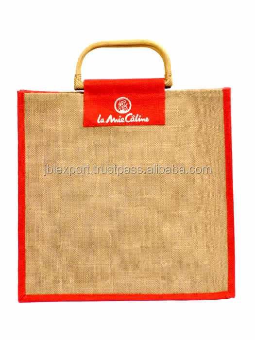 Popular shopping jute bag folding made In Indian