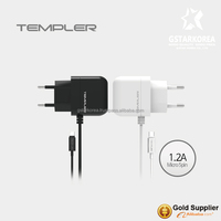 [TEMPLER] 1.2V Travel Wall Charger Micro USB for Samsung SmartPhone