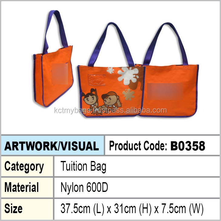 orange tuition bag