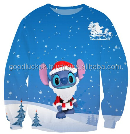 wholesale Christmas sweatshirts -Custom sublimation sweaters&jersey sweatshirts,non hooded sweatshirts