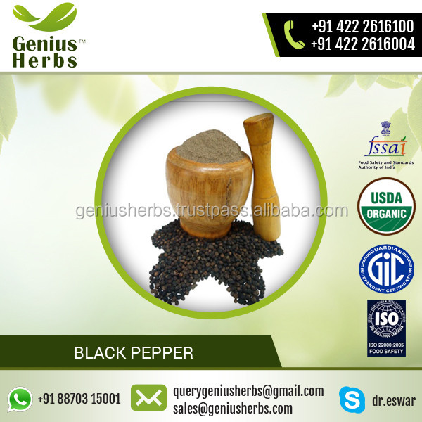 Approved Quality Highly Nutritive Black Pepper from Renowned Exporter