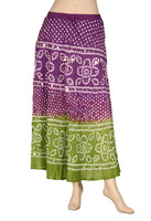 Buy Online Indian Traditional Bandhej Print Technique Cotton Long Skirt