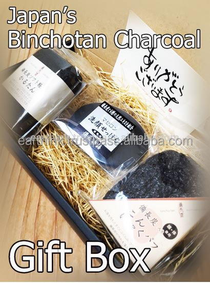 ladies birthday gift ideas very popular Best-selling Binchotan Charcoal Beauty Care Gift Set(soap/pumice/puff)