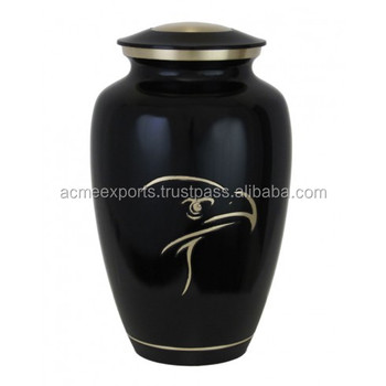 Handicrafts Brass cremation urns for burial