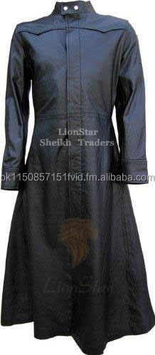 Lionstar Gothic Steampunk Victorian Matrix Real Leather Long Coat