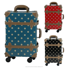 polka dot luggage trolley luggage with wheels from japanese design wholesale trolley suitecase TSA carry bag