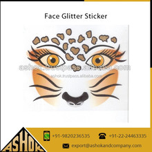 Indian Face glitter Tattoos sticker/Custom Temporary Tattoos Sticker/Fancy Mask Tattoos