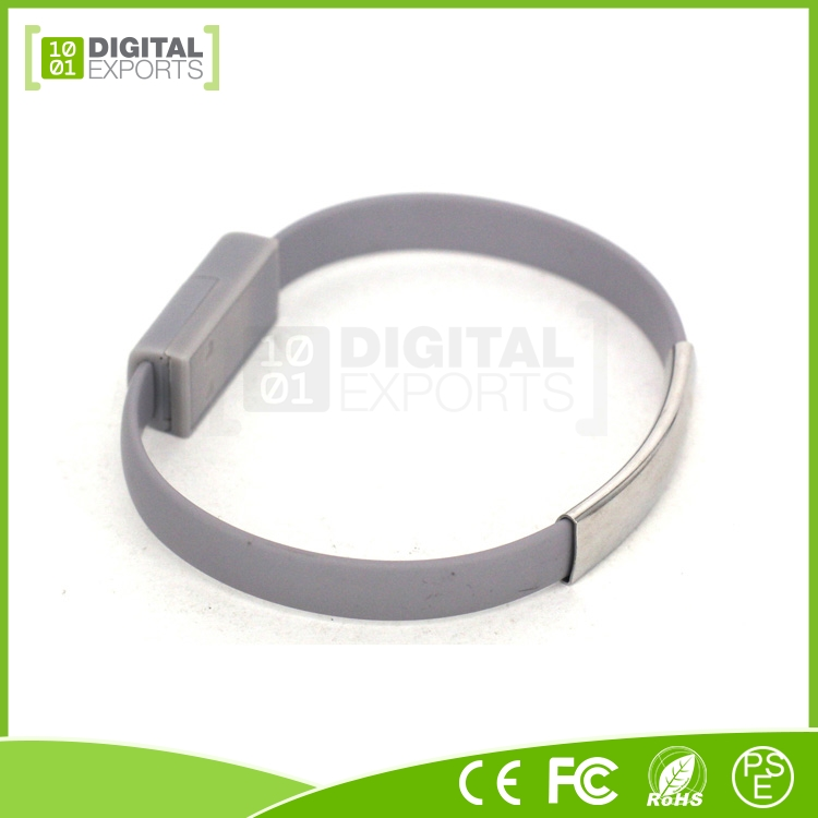 Hot selling unique oem custom bracelet shape low profile usb to micro usb cable with i-Phone 5/5S/6/6 or Android