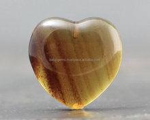 Natural Amber Heart shape Cabochon Loose Gemstone