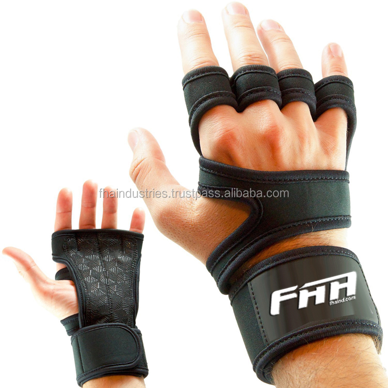 Cross Training Gloves with Wrist Support for Fitness, WOD, Weightlifting, Gym Workout & Powerlifting - Silicone Grip