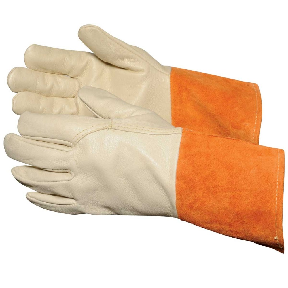 Cow split leather safety welding gloves