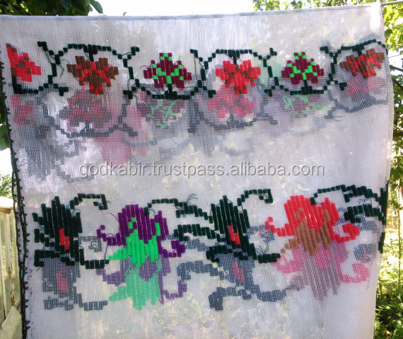 Wholesale table covering folk pattern, traditional embroidered, rustic decorative ethnic textile runner.