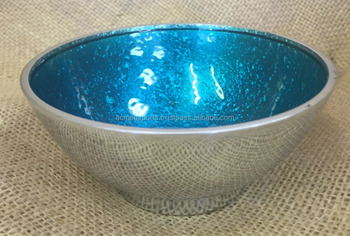 Enamel Metal Bowl | Food Grade Aluminium Blue Enamel Serving Bowl