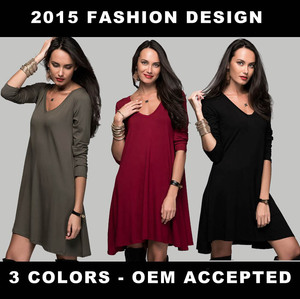 Women Dress Ladies New Fashion Dresses Wearing 3 Colors 2015 Product : CM-109-MIXED COLOR