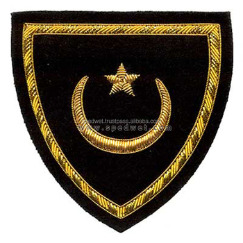 Bullion shield ceremonial award patch
