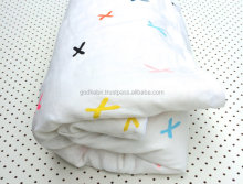 Beautiful Colourful Cross 100% Linen Cot Duvet Cover/ Cot Doona Cover / Baby Summer Blanket doonas cover set
